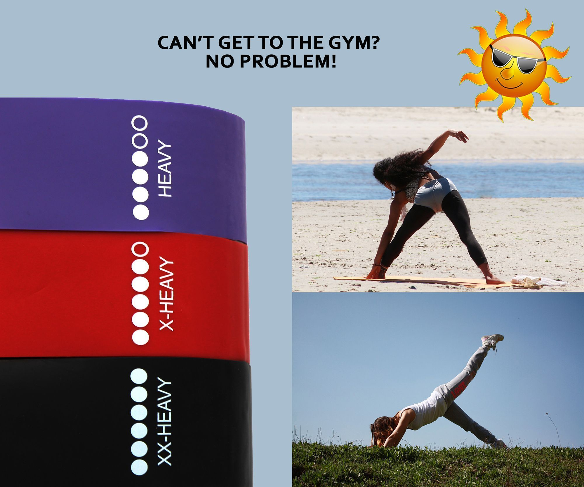 """Resistance Loop Bands Set of 5 Exercise Yoga Fitness Crossfit Latex 12/""""×2/"""" size"""