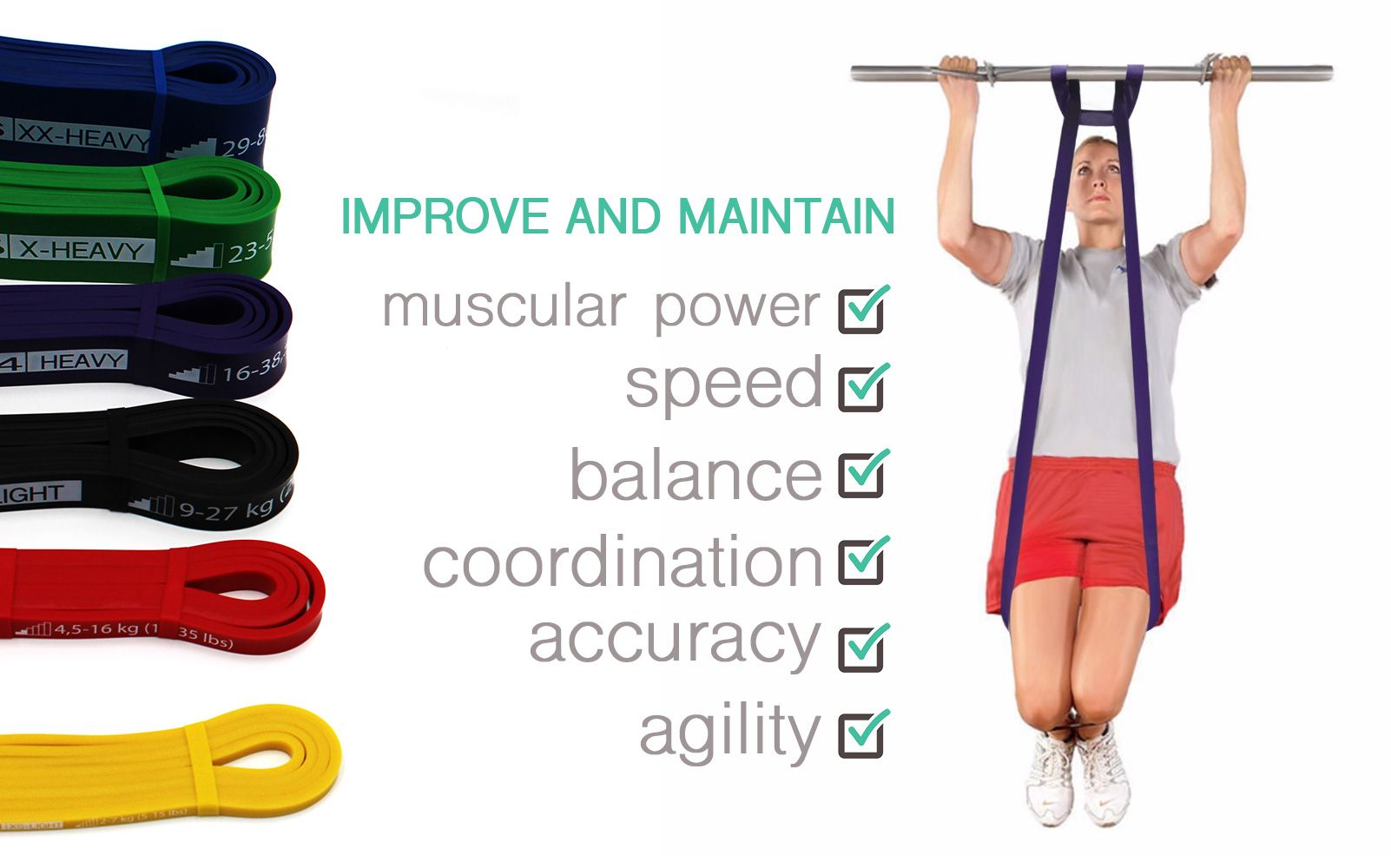08deff6a97b4 Pull Up band - #3 Black – tension level: medium - Exercise bands for ...